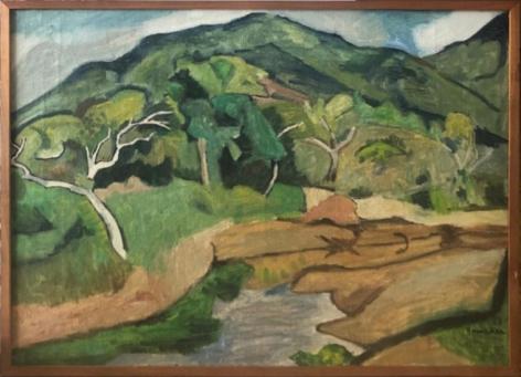 Aldo Bonadei, Landscape n.d., 1968. Oil on canvas, 19 x 27 in.