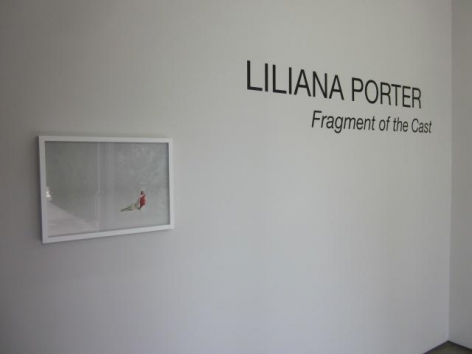 Liliana Porter, Fragment of the Cast, Installation view, 2012.