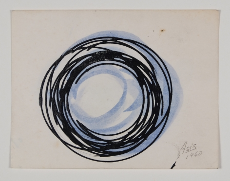 Antonio Asis, Untitled, 1960, Gouache and ink on paper, 3 1/2 x 4 9/16 in. (8.9 x 11.7 cm.)