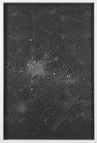 Marco Maggi, No visual distancing (Black), 2021. Paper on paper on paper, 36 x 24 in. (91.4 x 61 cm.)