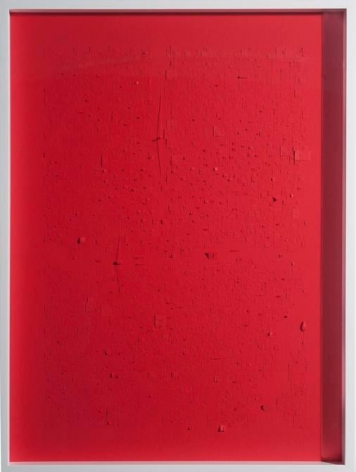 Marco Maggi, Red Landmark, 2017. Paper cuts on paper, 24 x 18 in. / 61 x 45.7 cm.