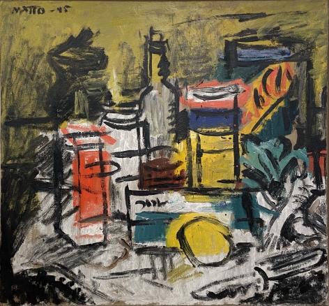 Francisco Matto, Bodegon, 1945. Oil on board, 20 1/16 x 21 5/8 in.