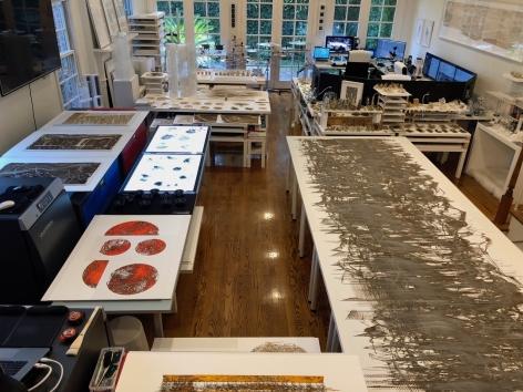 Gustavo Díaz's studio, Houston,2020.