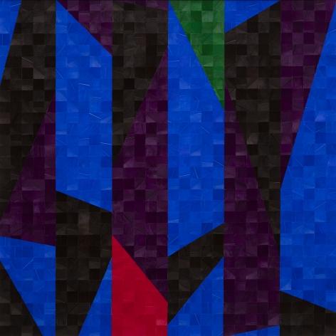 Gabriel de la Mora, 1,088 I, 2020. Pigmented turkey feathers on museum cardboard, 16 7/8 x 16 7/8 x 1 9/16 in. (43 x 43 x 4 cm.)
