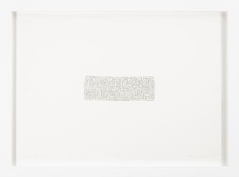 Miguel Ángel Rojas, Mola AP1, 2001. Dollar bill cut outs on paper, 19 x 27 in.