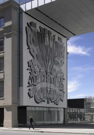 Pablo Siquier,0810, 2008,Painted aluminium,45.9 x 42.7 ft.Los Molinos Building, Faena Group,Buenos Aires, Argentina