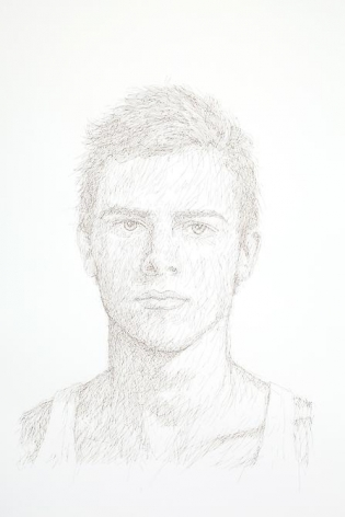 Gabriel de la Mora, R.P. I, 2012. Hair on paper, 40 7/8 in. x 26 7/8 in. x 2 3/8 in.