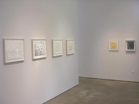 Luiz Roldan, Arthur Luiz Piza, Marked Pages, Sicardi Gallery installation view, 2006
