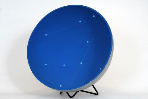 Gregorio Vardanega, 0010 Spirales Spatiales (bleue), 1947. Metal, wire, Plexiglas, 28 1/4 x 10 1/4 in. (71.8 x 26 cm.)