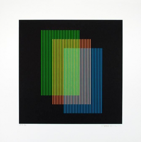 Carlos Cruz-Diez, Color Aditivo Ramblas, 2012. Lithograph, 21 5/8 in. x 21 5/8 in.
