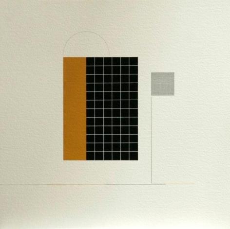Antonio Lizárraga, Desenho nº 450 - A lua está com saudades, 1998-2004. India Ink, graphite and pigments on Arches paper, 15 3/4 x 15 3/4 in.