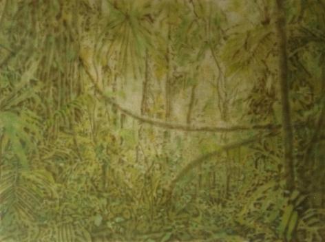 Melanie Smith, Selva IV, 2013. Acrylic enamel on acrylic, 95 cm. x 130 cm.