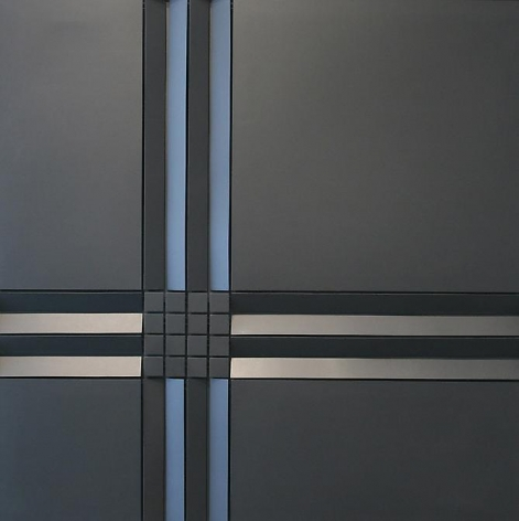 Luis Tomasello, Lumiere Noire No. 898, 2008. Acrylic on wood, 58 1/3 in. x 58 1/3 in. x 3 1/2 in.