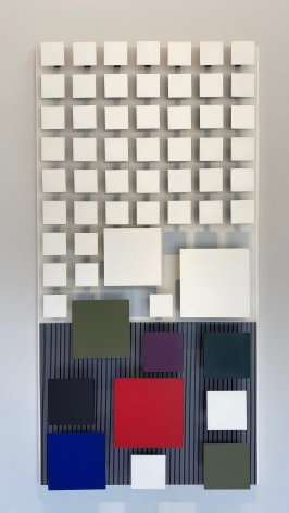 Jesús Rafael Soto, Color Inferior, 1991. Wood and Metal, 79 7/8 x 40 1/8 in. (203 x 102 cm.)
