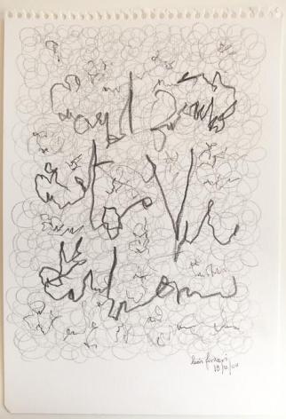 León Ferrari, Untitled, 2004. Graphite on paper, 11 11/16 x 8 5/16 in. / 29.7 x 20.1 cm.
