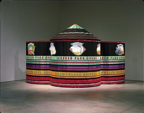 Maria Fernanda Cardoso, Flea Circus Tent, 1996. Installation view at Museum of Contemporary Art, Sydney, permanent collection of Tate Modern.