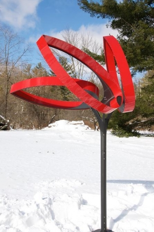 Pedro S. de Movellán, Outdoor Conical Leaf, 2017, Hard coated anodized aluminum, painted aluminum, stainless steel