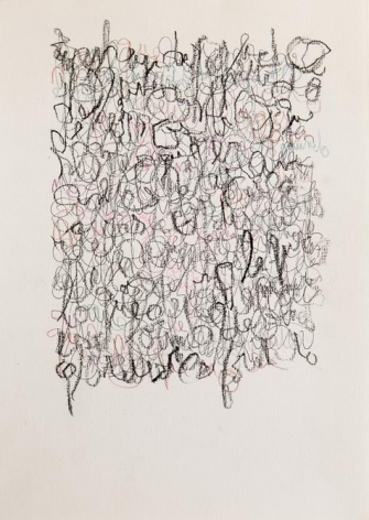 León Ferrari, Untitled, 2002. Graphite and crayons on paper, 11 11/16 x 8 1/4 in. / 29.7 x 21 cm.
