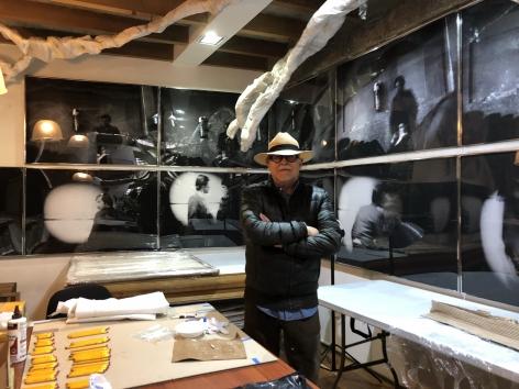 Miguel Ángel Rojas, portrait at his studio, Bogotá, Colombia
