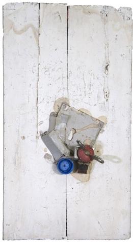 Alejandro Otero, El abrelatas rojo [The Red Can Opener], 1962. Mixed media on wood, 17 1/2 x 9 5/8 in.