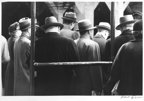 Untitled (Men in Hats, Backs to Camera), 1950s, 11 x 14 inch gelatin silver print
