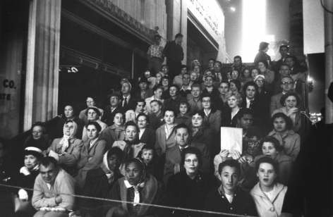 Fans at a movie premier,  Los Angeles. 1955, 11 x 14 inch gelatin silver print