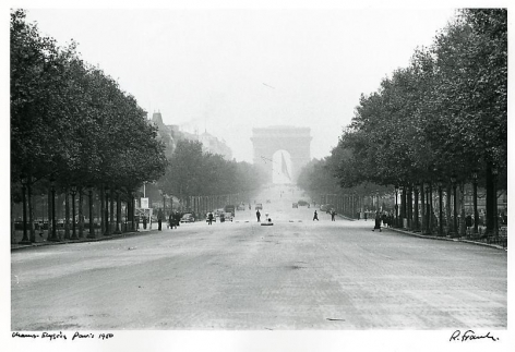 Champs-Elysee. Paris. 1950.