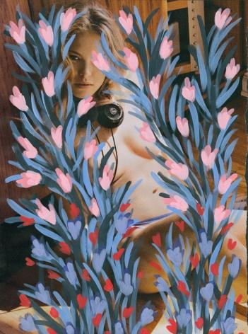 Untitled (Kristy Garrett by Sasha Eisenman for Playboy - Last Nude Playmate/Last Nude Issue, January - February 2016), 2016, Acrylic on Magazine Page