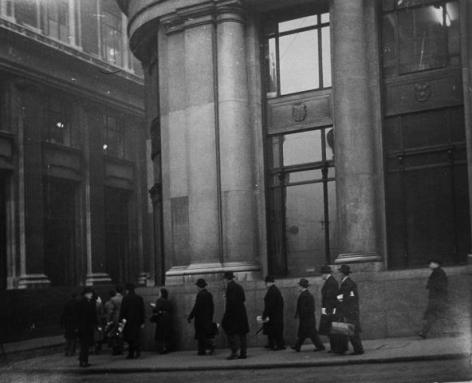 Robert Frank. London (bankers). 1951 (vintage print).