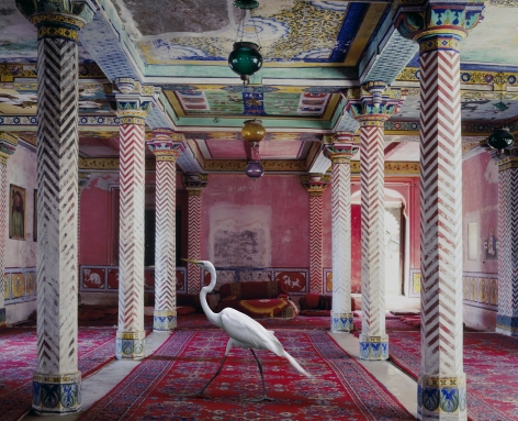 Flight to Freedom, Durbar Hall, Dungarpur, 2010, Archival pigment print