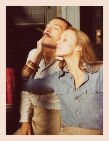 Antonio and Jerry Hall. 1976, 	4.5 x 3.25 inch unique vintage Kodak print