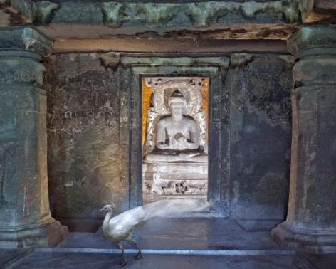Karen Knorr, Attaining Moksha , Ajanta Caves, Ajanta, 2012