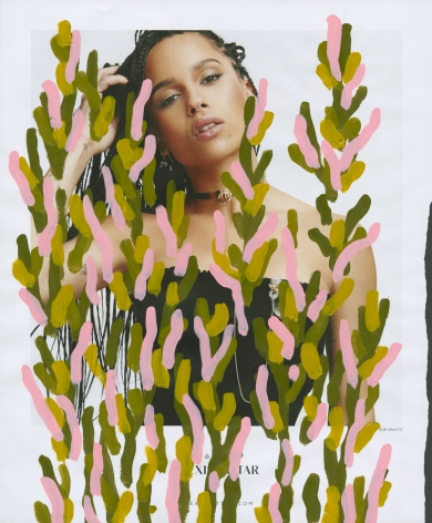 Untitled (Zoe Kravitz by Manolo Campion for Alexis Bittar), 2016, 10.75 x 9 inches