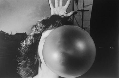 Bubble Gum, 1975, 16 x 20 inch gelatin silver print