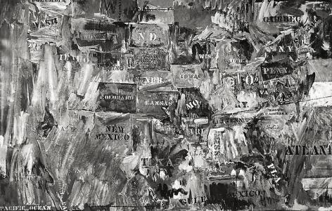 Map, 8x10 inch Silver Gelatin Print