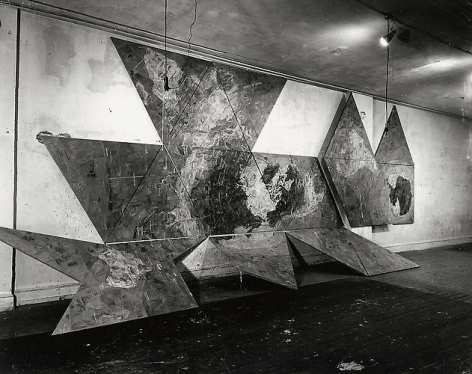 Map (Based on Buckminster Fuller's Dymaxion Airocean World), 8x10 inch Silver Gelatin Print