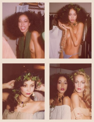 Before the Yves St. Laurent Show, November 1977, 	Four 4.5 x 3.25 inch unique vintage Kodak prints