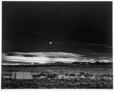 Ansel Adams, 	Moonrise, Hernandez, New Mexico. 1941