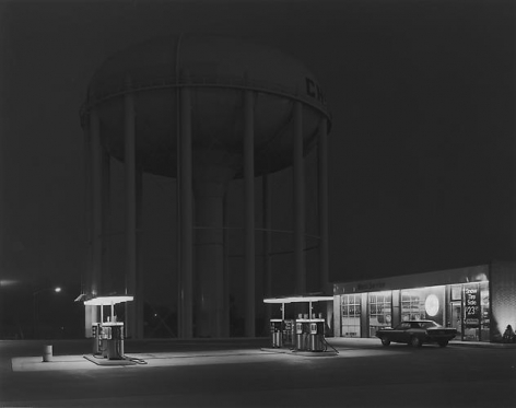 George Tice. Petit's Mobil Station, Cherry Hill, NJ. 1974.