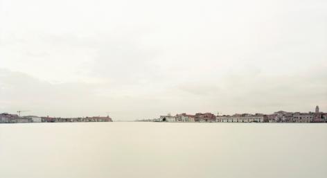 """Canale della Giudecca II, Venezia, From the series Horizons, 2007, 12 x 22"""" C-Print"""