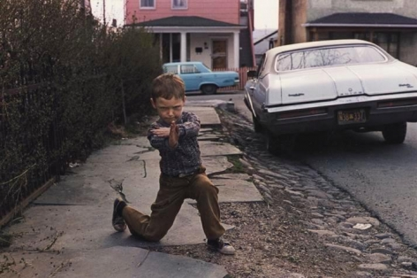 Karate Stance. Wilkes-Barre, PA. 1977.