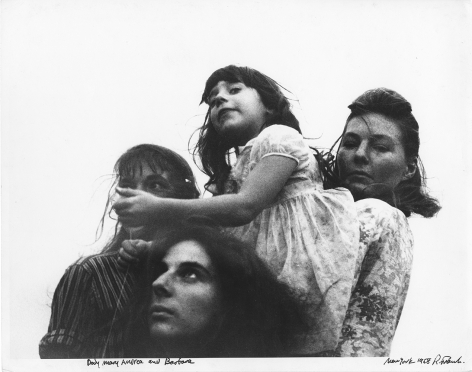 Dody, Mary, Andrea, and Barbara, New York, 1958. , 11 x 14 inch gelatin silver print