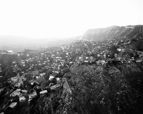 Hollywood Hills From Griffith Park, Beachwood Drive and Hollywood Reservoir at Left, Ca, 2004, 24 x 30 inch pigment print - Edition of 10