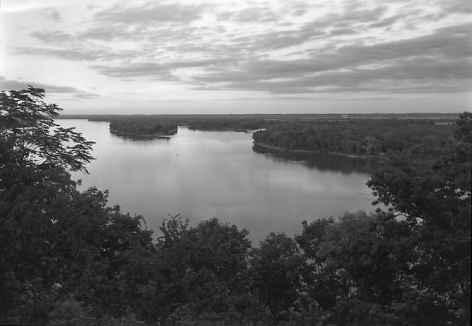 The Mississippi River, Hannibal, MO, 1985.