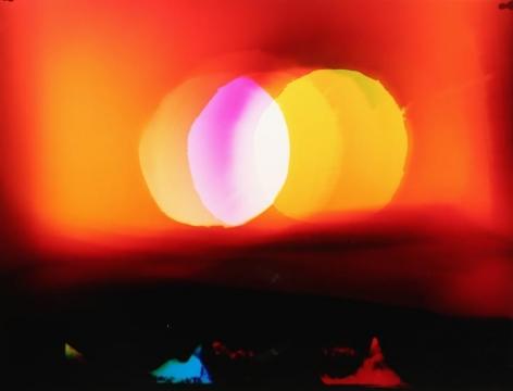 Venn Sunset over Dark Forest, 2016, Analog Chromogenic Photo, Unique