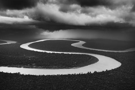Heavy Rain On The Juruá River. Tefé Area (Lower Juruá), State of Amazonas, Brazil. 2009