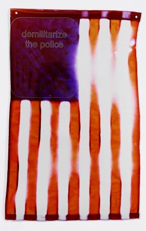 Compound Flag: Demilitarize, 2018, 37 1/2 x 24 inches