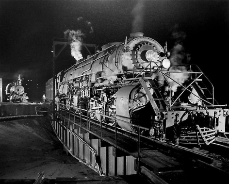 The Y6 on the Shaffers Crossing turntable, 1956