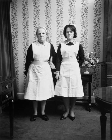 Anne and Emma, Dublin.1966, 20 x 16 inch gelatin silver print