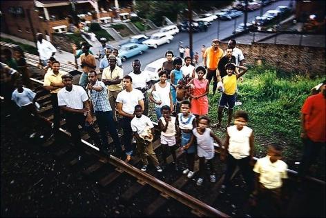 Paul Fusco. Untitled from RFK Funeral Train (Jewel toned crowd).  1968 / printed 2008.